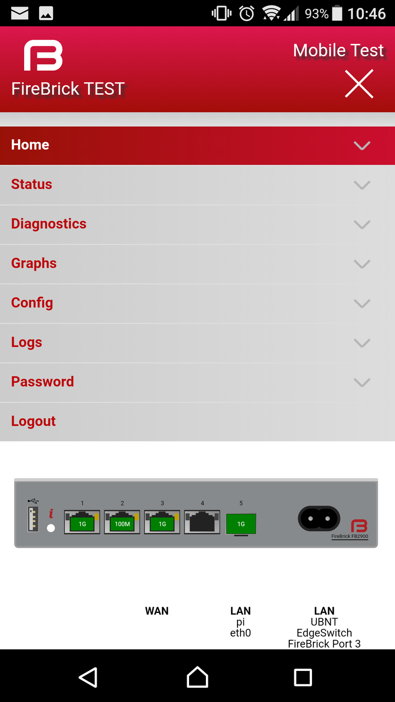 Screenshot of web interface on a phone